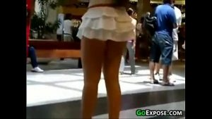 babe at the mall wearing a small short skirt very beautiful