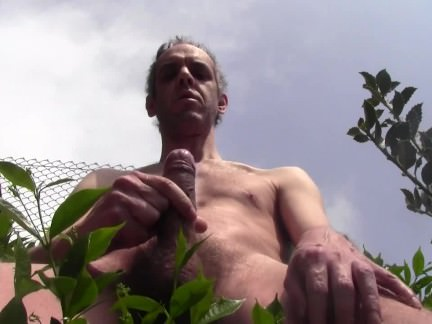 long cum shower outdoor naked in public garden amateur solo guy solo male