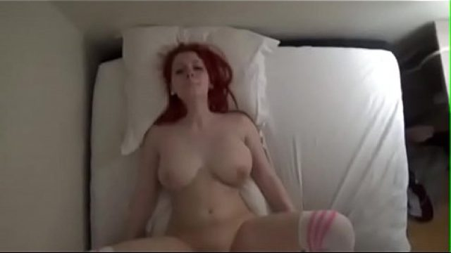 Redhead Homemade long nipple redhead out for control